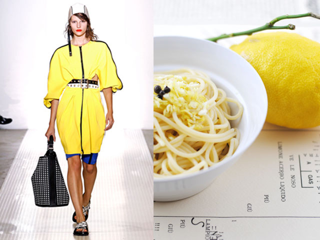 Taste of Runway presents: Marni - olive oil and lemon spaghetti