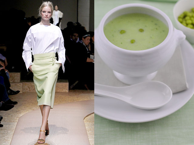 Taste of Runway presents: Céline - pea soup with mint