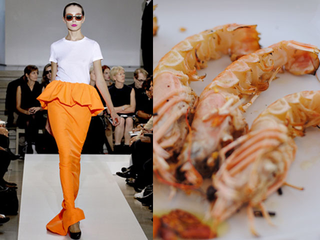 Taste of Runway presents: Jil Sander - marinated grilled prawns