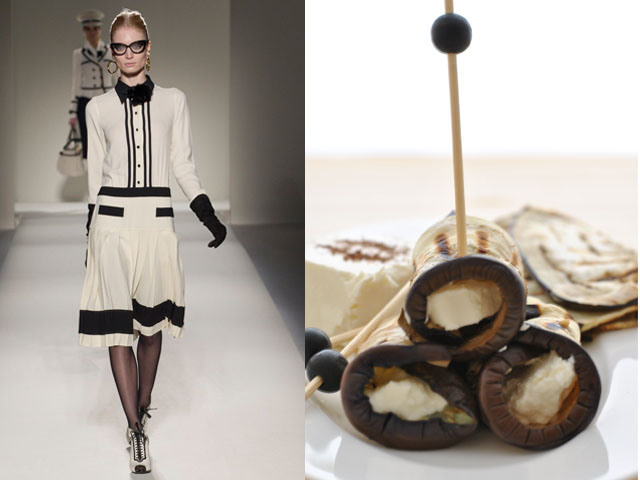 Taste of Runway presents: Moschino - grilled eggplant with tomato and fresh cheese