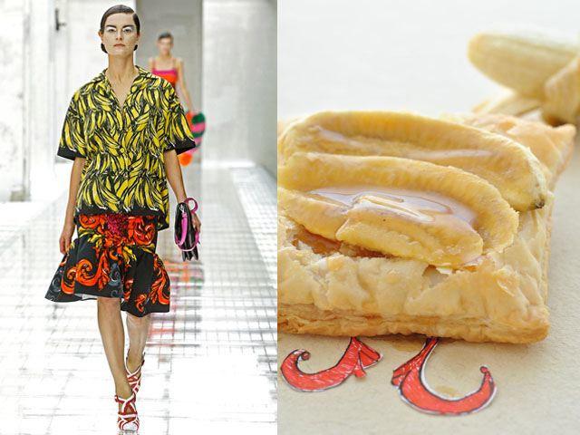 Taste of Runway presents: Prada - caramel bananas tarte tatin