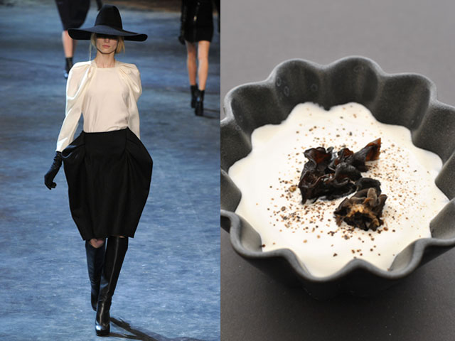 Taste of Runway presents: Lanvin - cream of cauliflower, potatoes and mushrooms of the east soup