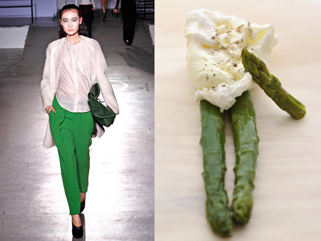 Taste of Runway presents: 3.1 Philip Lim - asparagus with poached eggs