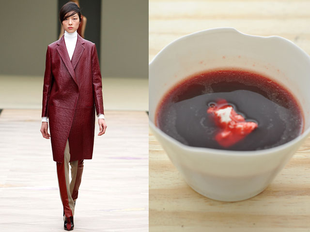 Taste of Runway presenta: Cline - zuppa di barbabietole e formaggio caprino