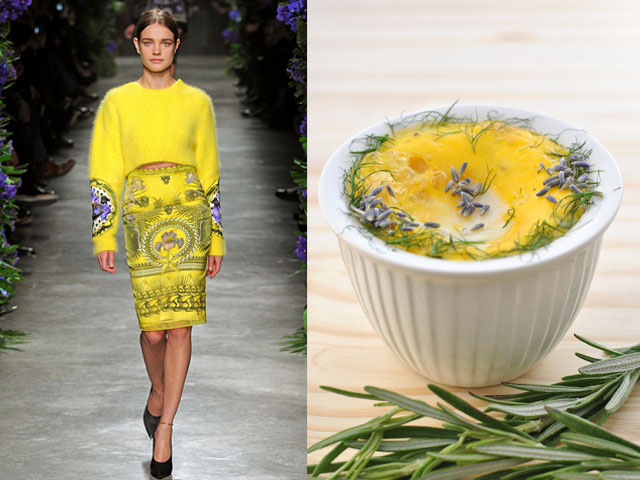 Taste of Runway presenta: Givenchy - uova al forno con groviera e finocchietto selvatico