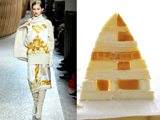 Taste of Runway presents: Hermes - pyramid of cheese with honey, mustard and jam