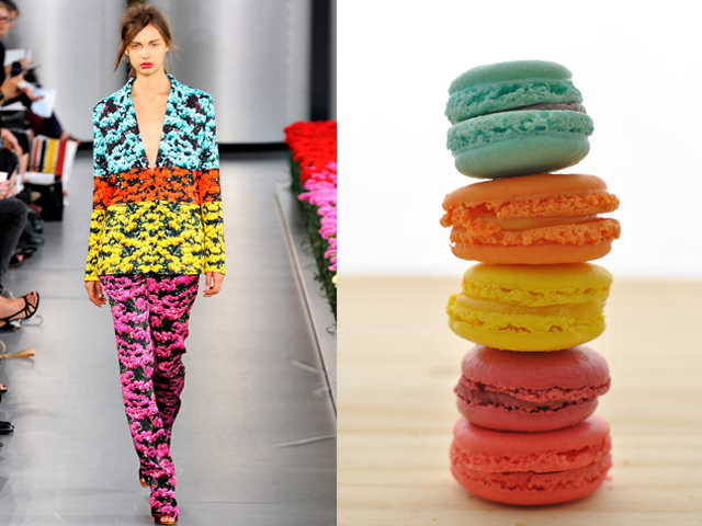 Taste of Runway presenta: Mary Katrantzou - macarons fluo