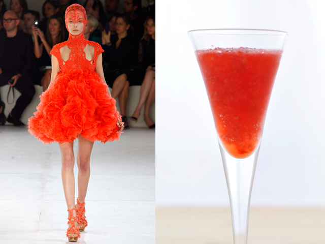 Taste of Runway presenta: Alexander McQueen - daiquiri frozen casalingo alla fragola