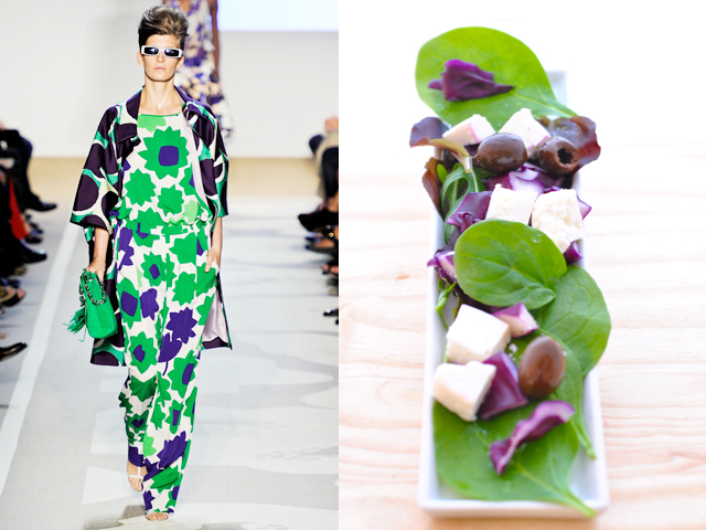 Taste of Runway presents: Diane Von Furstemberg - delicate salad with vinaigrette dressing