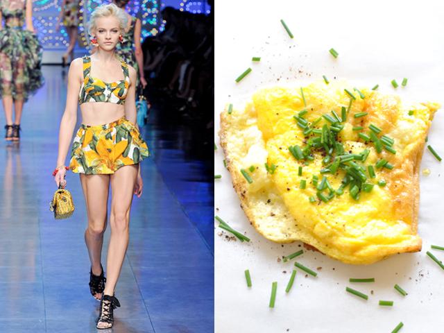 Taste of Runway presents: Dolce & Gabbana - chives omelette