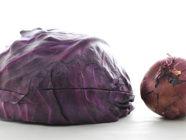 Vellutata di cavolo capuccio viola
