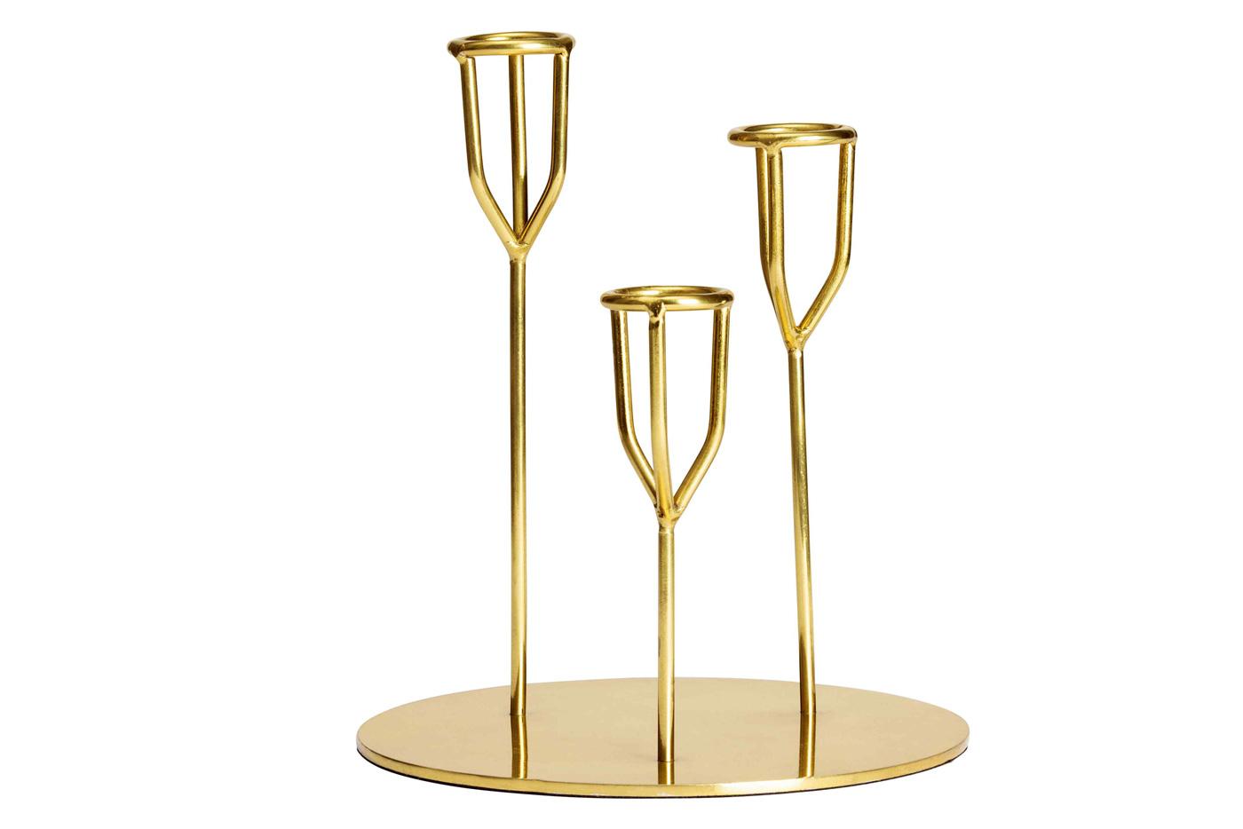 portacandele in metallo dorato tasteofrunway